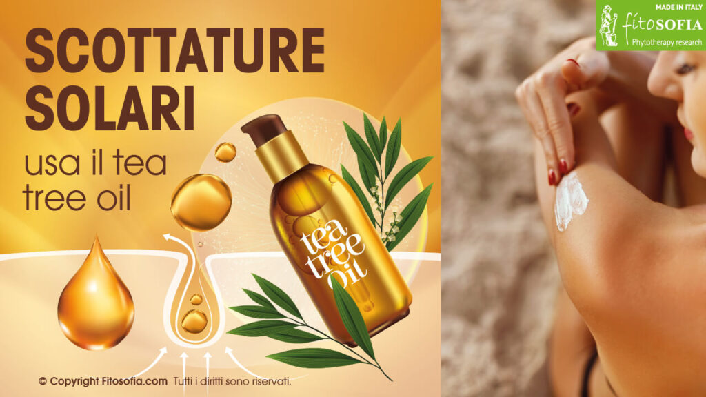 Tea tree oil scottature solari