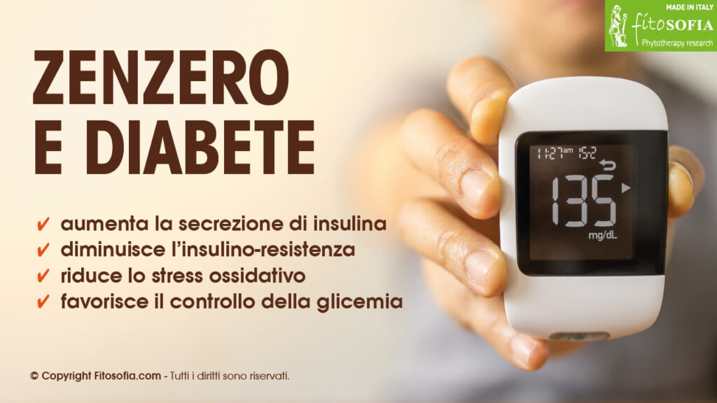 Zenzero: effetti per diabete 2 e glicemia alta